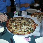 One of the 3 pizzas we ordered