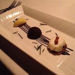 limesorbet, chocolate, cheese