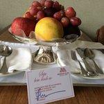 Dia do aniversário. Hospitalidade do hotel!