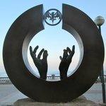 Statue on the promenade near La Santa Maria Hotel in Sitges.
