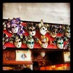 Máscaras tradicionais do carnaval veneziano.