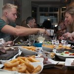 Family Enjoying Their Meals