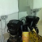 Coffee maker and blow dryer
