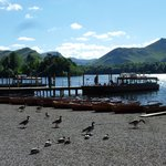 Keswick pier, after catching the launch from Hawse End after the Catbells walk