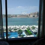 Uitzicht over Moskee vanuit onze kamer.