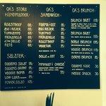 'Keep it simple' - Onkel A's menukort