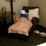 Make shift kids bed in King room