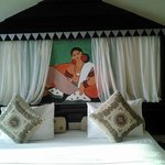 A Sri Lankan art -themed bed