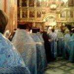 На божественной литургии в стенах Ново-девичьего монастыря