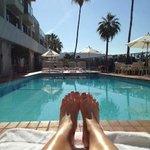 Taking in the California sunshine!