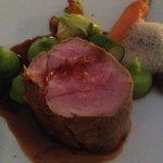 Filet de veau aux morilles, sauce Calvados