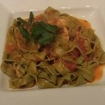 Delicious pasta with lobster