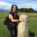 The holy stone at Hill of Tara - touch and hold for a while