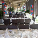 The Set-Up for our Rehersal Dinner
