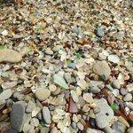 Glass among the rocks at Glass Beach
