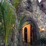 Arched entry to the Hacienda from the beach