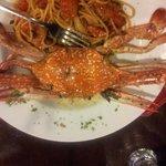 Spaghetti al granchione