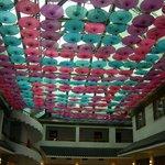 pretty restaurant ceiling