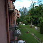 View from the balcony at hotel La Meridiana in Brisighella