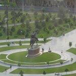 vue sur la statue de Tamerlan