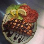 Balsamic reduction salmon