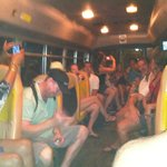 Later bus ride (notice the dancing)