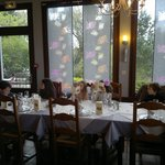 """The restaurant, with scenic view over the """"viaduc"""""""