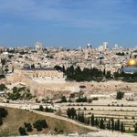 Gorgeous view from top of Mt of Olives