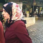 Muslim woman strolling in Old City