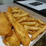 Captain's meal - hake, cod and haddock + chips