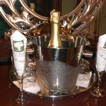 champagne waiting in our room