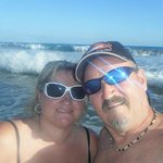 On the beach in front of Coral Baja