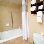 Whirlpool tub in upgraded rooms