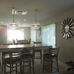 Part of the breakfast area-loved the blinds!