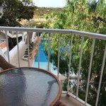 vista balcone 2 sulla piscina