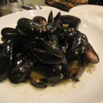 Mussel steamers in broth