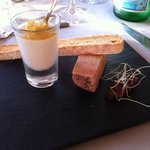 foie gras maison et sa pannacota a tomber par terre