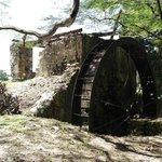 Sugarcane factory waterwheel