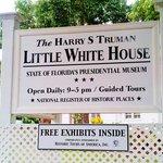Sign for Little White House