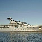 Visiting Super Yacht Moored at Marina
