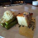 Chilean sea bass with asparagus!!