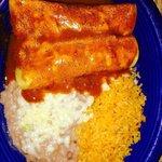 Beef enchiladas dinner $ 8.25