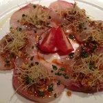 """Salmon sashimi """"new style"""""""