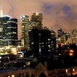 vista noturna de janela, 7-o andar norte