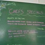 Chef's specials.