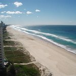Cavill Mall, the centre of Surfers Paradise is a 12 minute walk along the beach