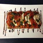 grilled flatbread w/ caprese salad,balsamic & basil