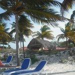 Plenty of deckchairs along the beach