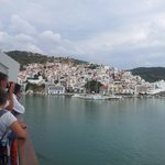 Arriving at Skopelos