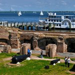 Fort Sumter and boat dock